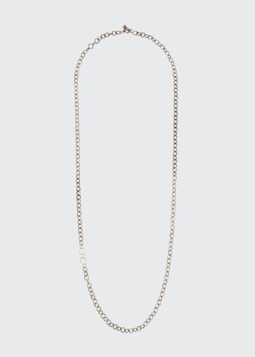 Armenta Old World Thick Circle-Link Necklace, 32