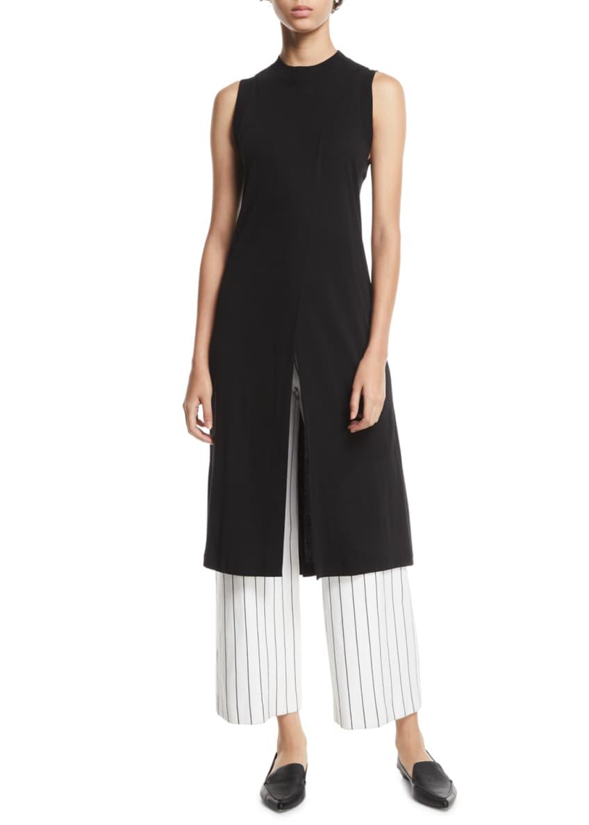 Rosetta Getty Crewneck Sleeveless Cutaway Cotton Jersey Long