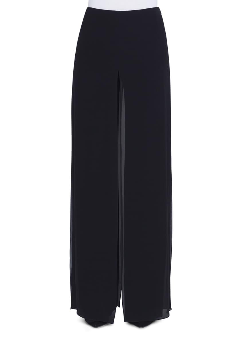 Akris Sheer-Silk Illusion V-Neck Kimono Top & Matching