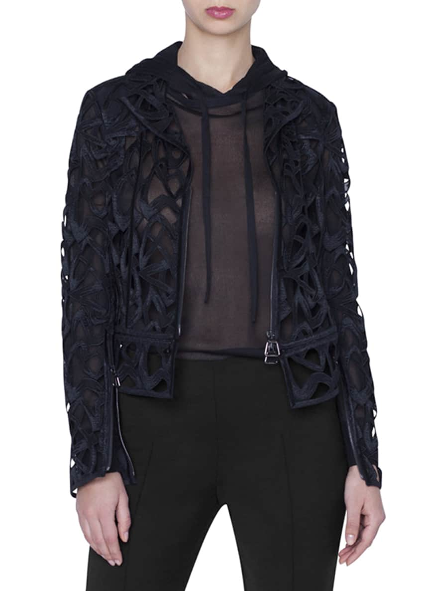 Akris Amy Marker Embroidered Short Jacket & Matching