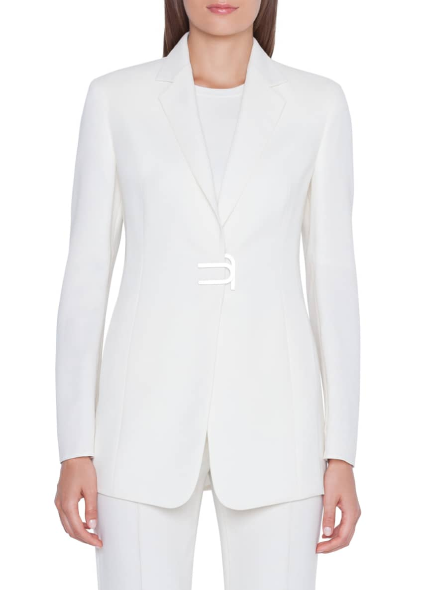 Akris Alpha Long Magnetic-Front Jacket & Matching Items