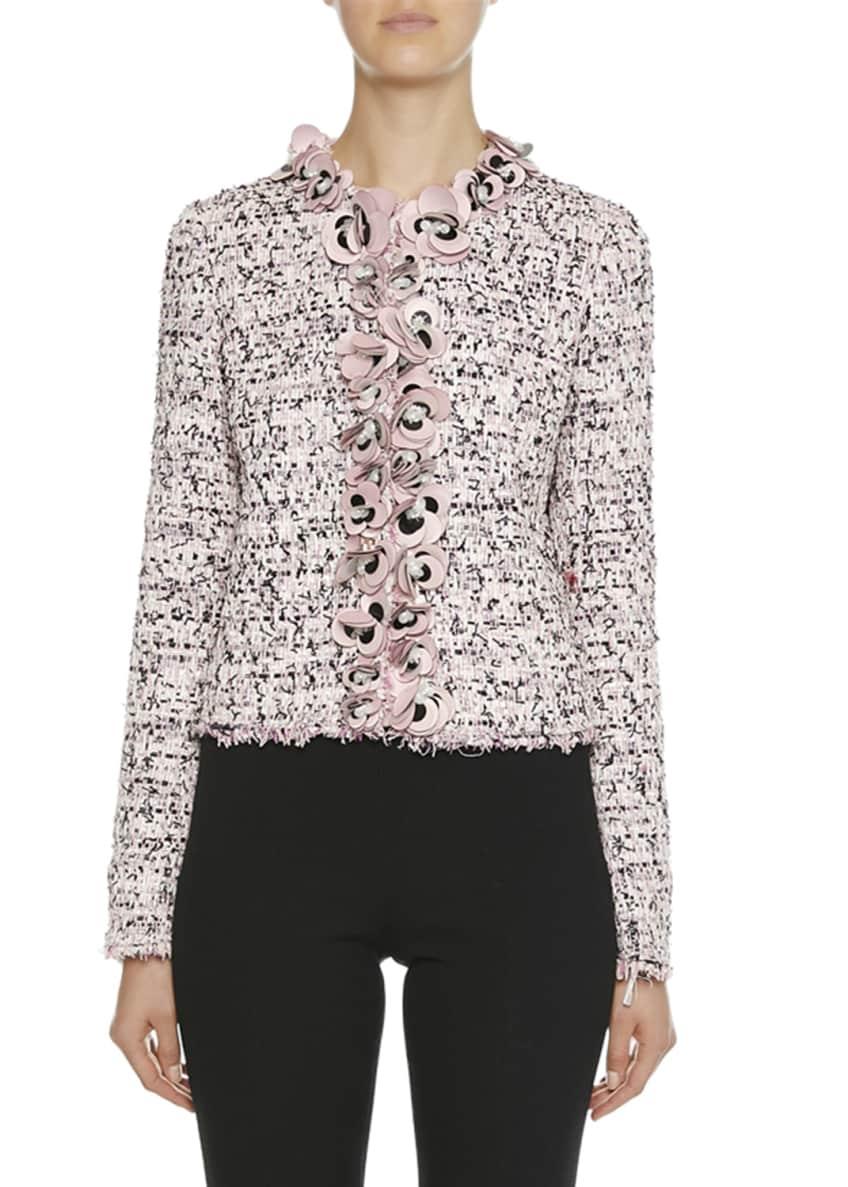 Giambattista Valli Floral Trim Tweed Jacket & Matching