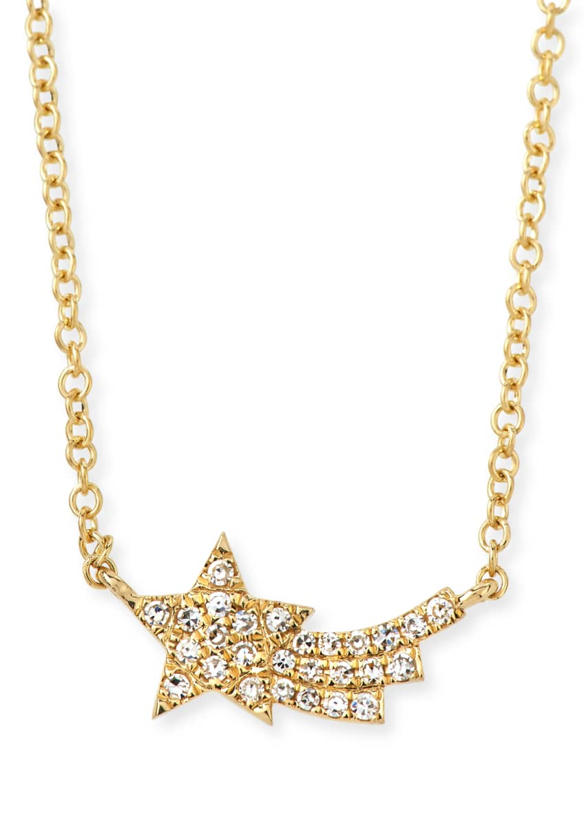 EF Collection 14k Diamond Shooting Star Necklace