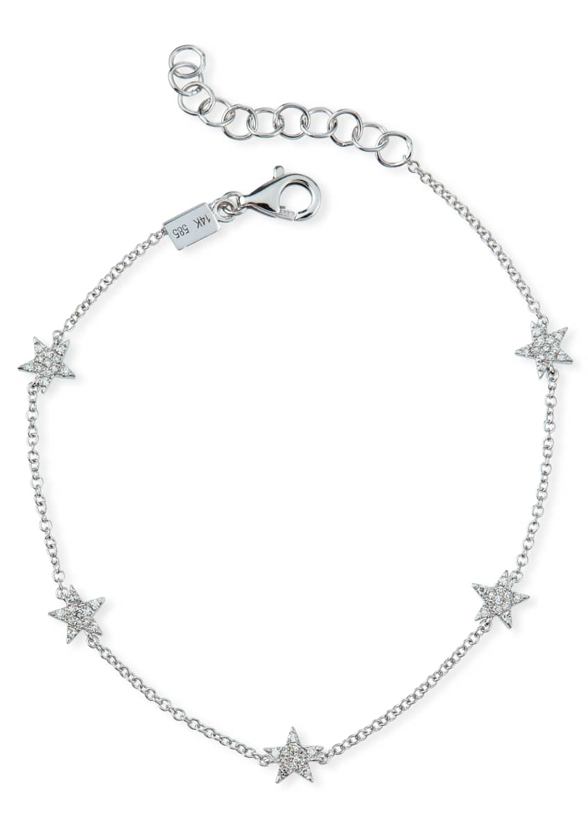 EF Collection 5 Mini Diamond Star Bracelet
