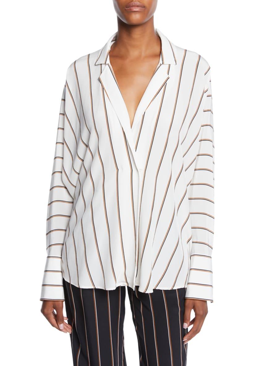 A.L.C. Noreen Striped Long-Sleeve Silk Top & Matching