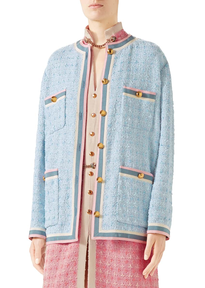 Gucci Jacket Light Pastel Tweed & Matching Items