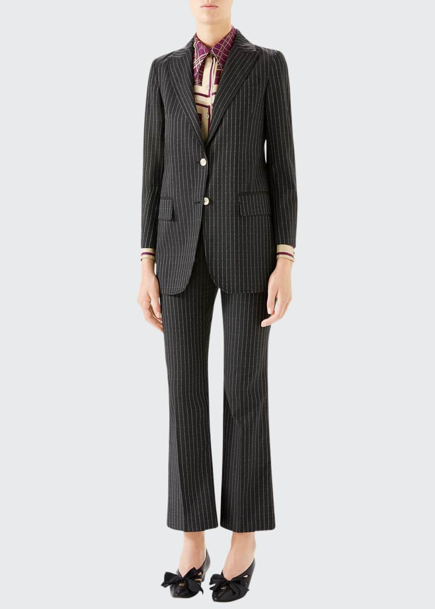 Gucci Pinstriped Wool Blazer Jacket & Matching Items