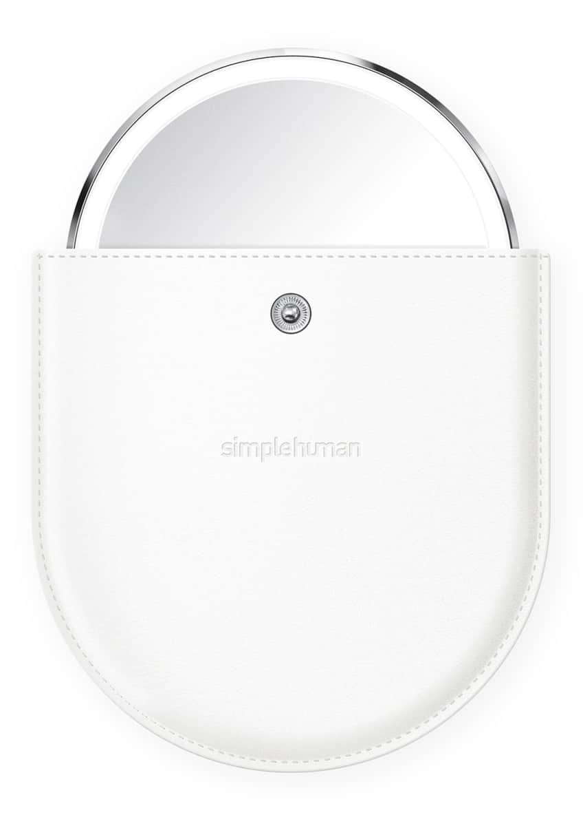 "Image 4 of 5: 4"" Sensor Mirror Compact, White"