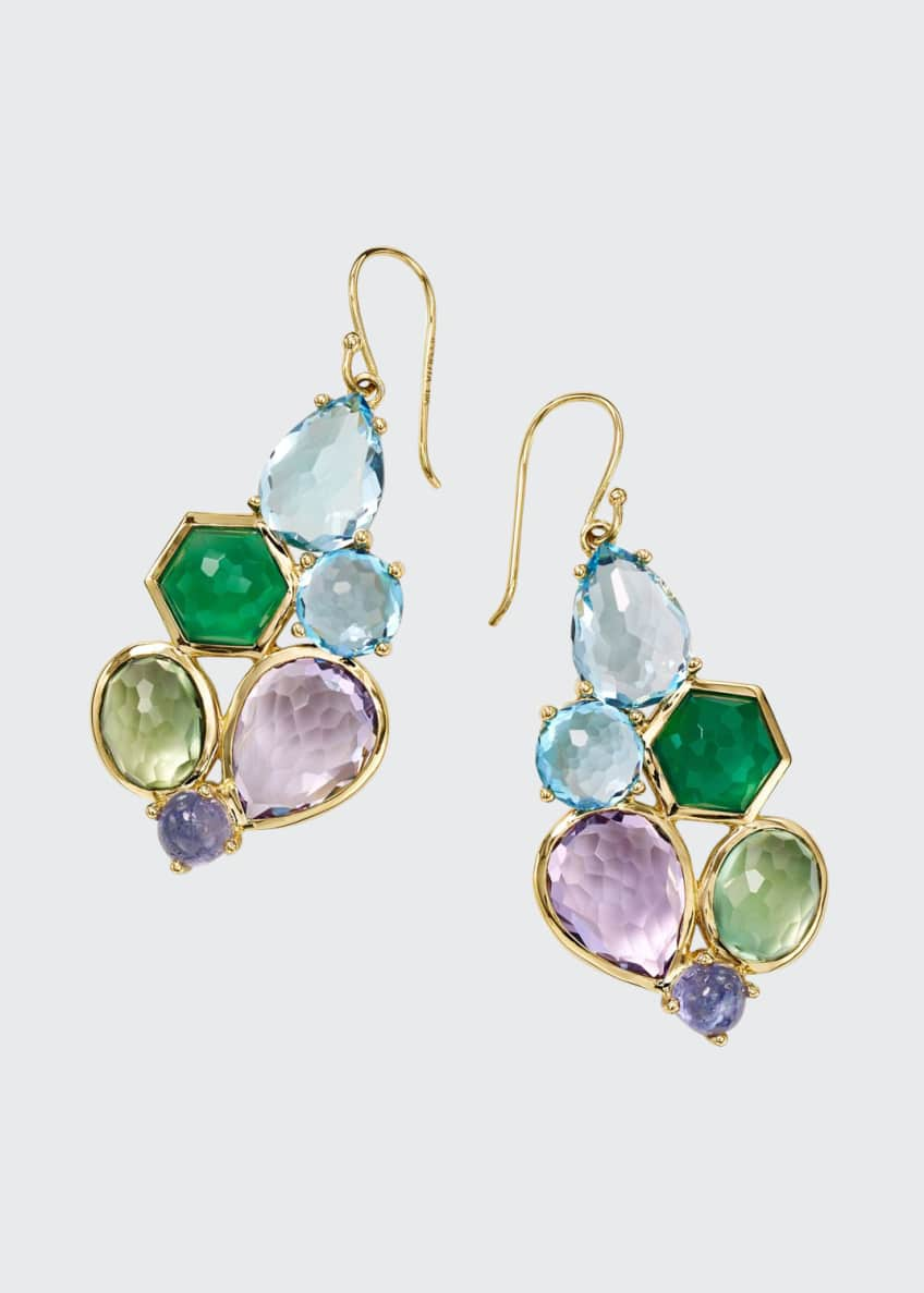Ippolita Rock Candy 6-Stone Cluster Earrings in Hologem