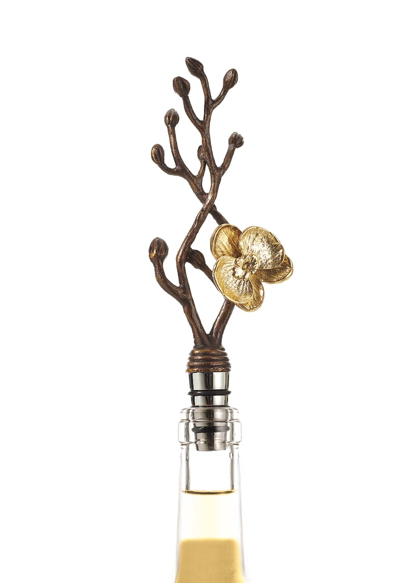Image 3 of 3: Gold Orchid Wine Stopper