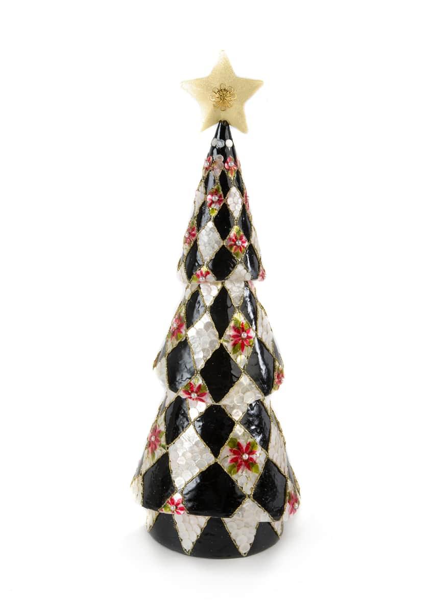 MacKenzie-Childs Harlequin Poinsettia Tall Tree
