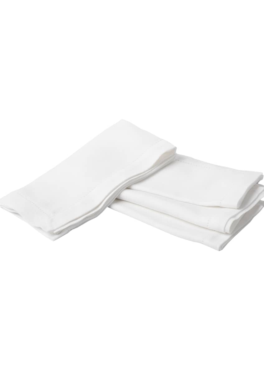 Image 2 of 3: Heirloom Linen Napkin, White