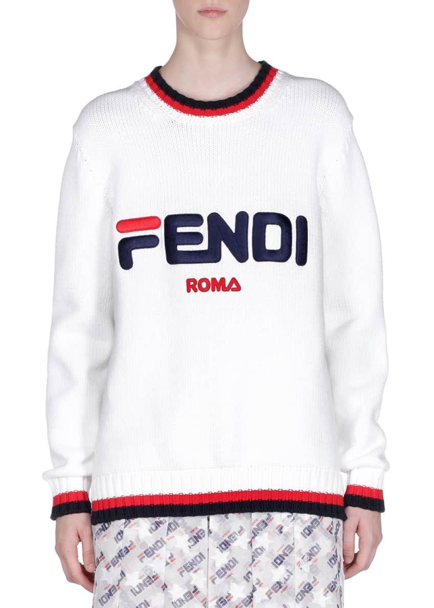 Fendi Fendi Mania Crewneck Pullover Sweater & Matching