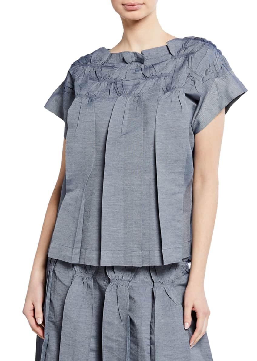 Issey Miyake Smocked Short-Sleeve Top & Matching Items