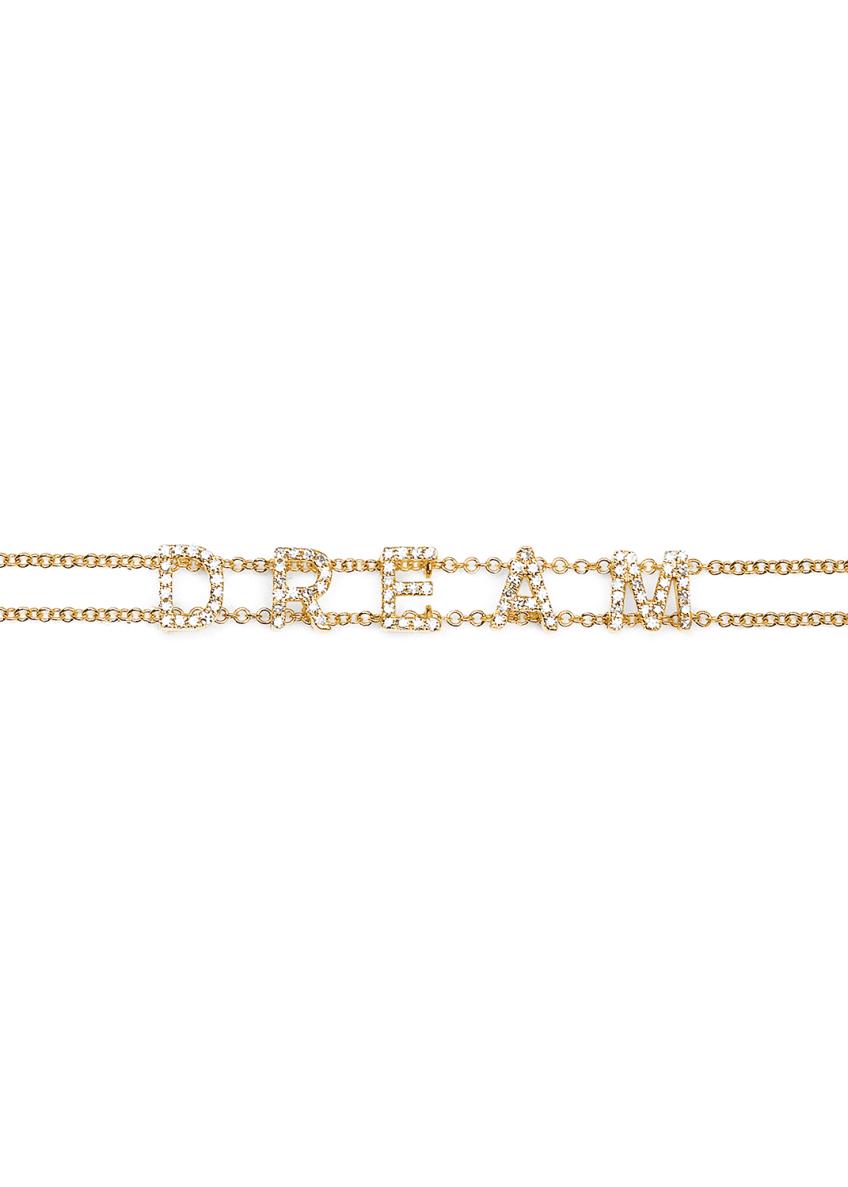 EF Collection 14k Gold Diamond Dream Bracelet