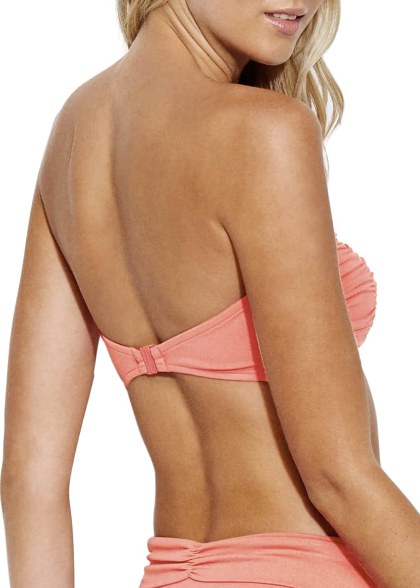 Image 2 of 3: Ruched Fold-Over Bikini Bottoms