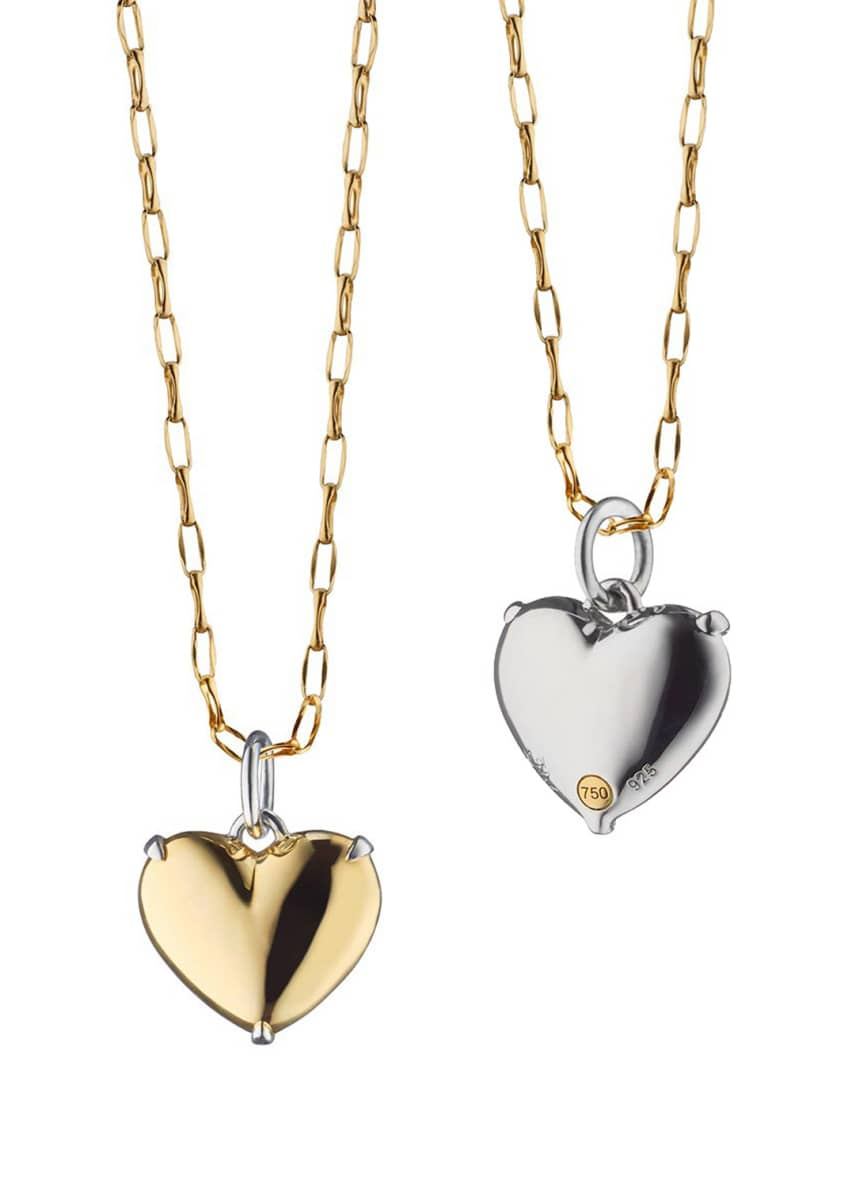 Monica Rich Kosann Two-Tone Heart of Gold Charm