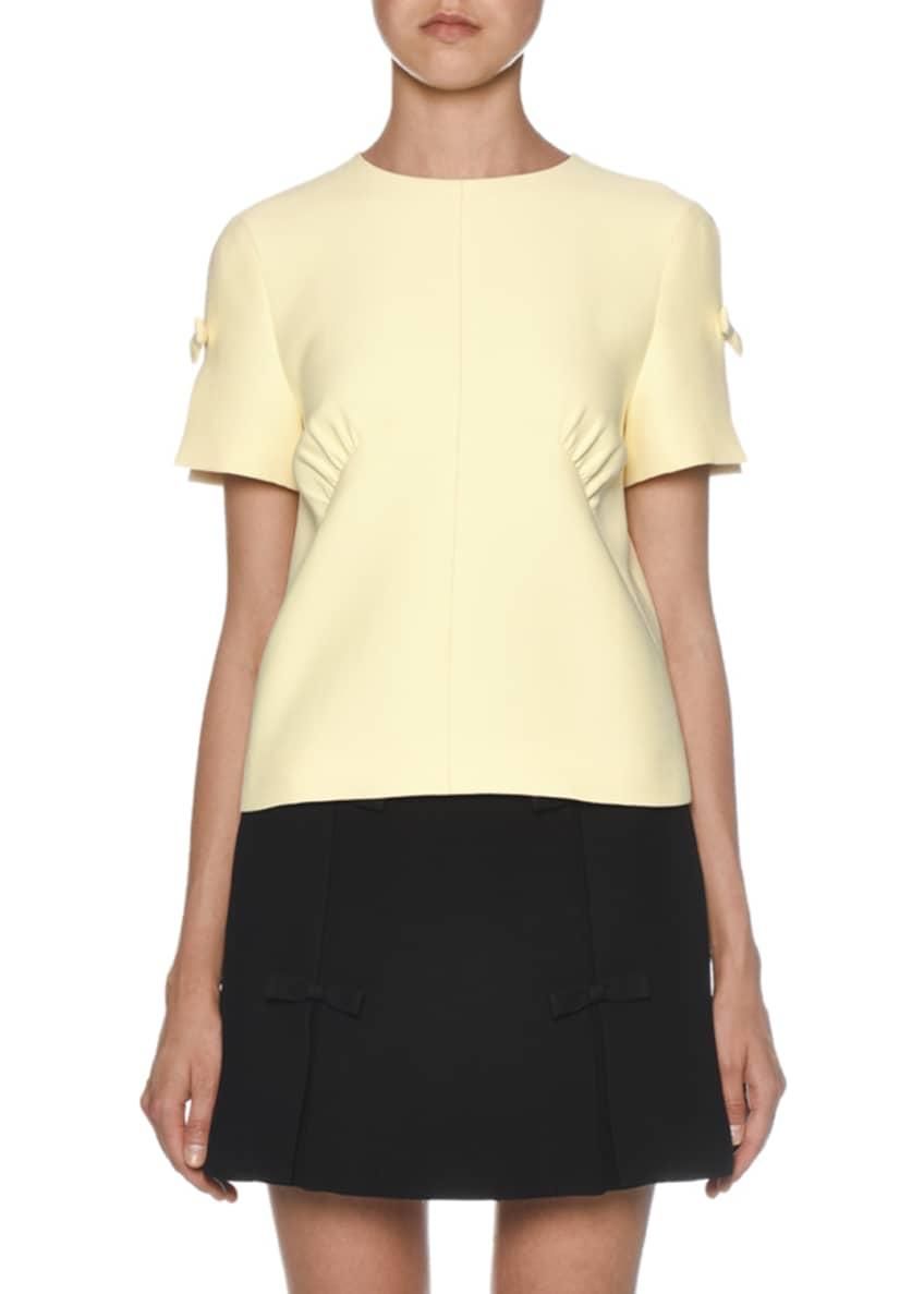 Miu Miu Bowed Short-Sleeve Top & Matching Items