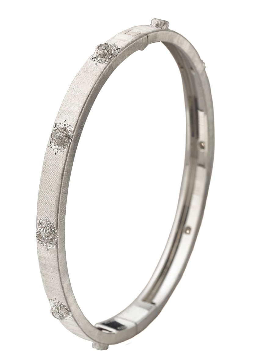 Image 1 of 1: Macri 18k White Gold Diamond Bangle Bracelet - Size 16cm