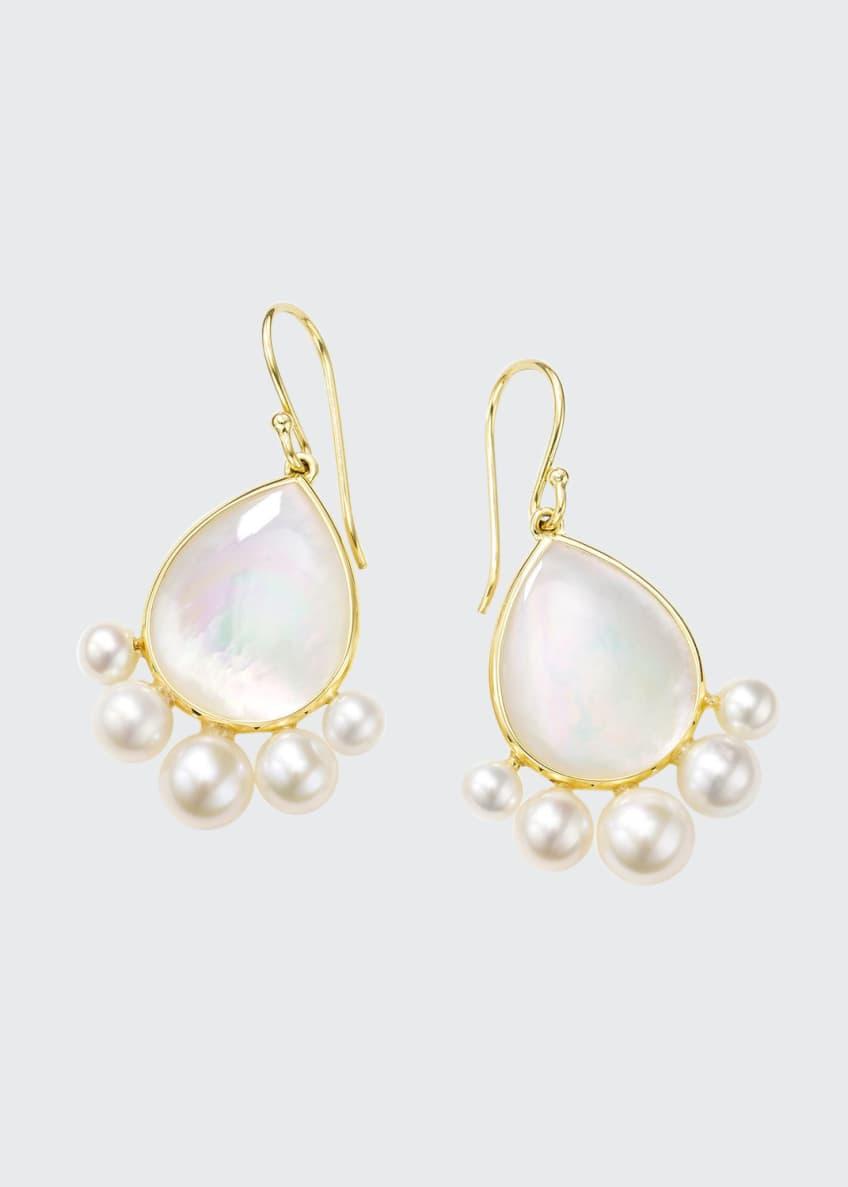 Ippolita Nova 18k Gold Pear Drop Earrings w/