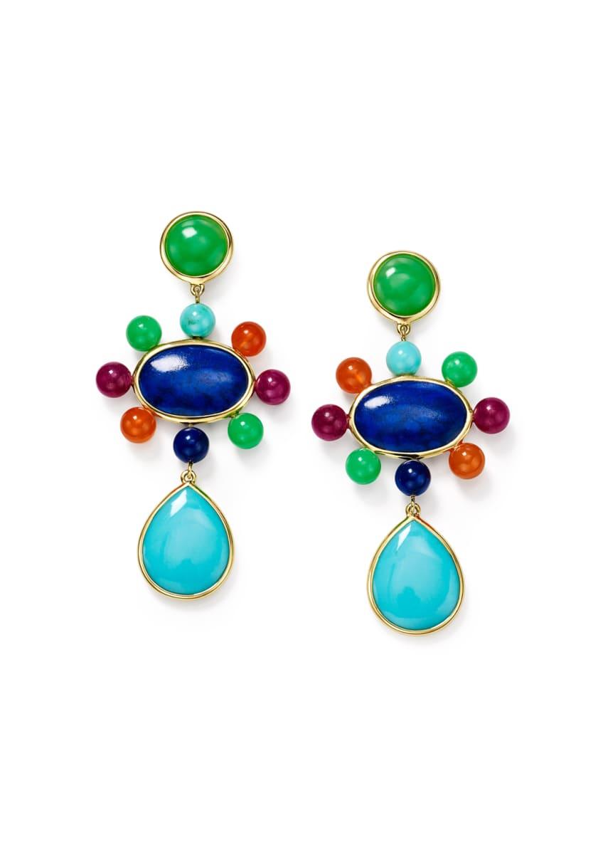 Ippolita Nova 18k Mixed-Stone Drop Earrings