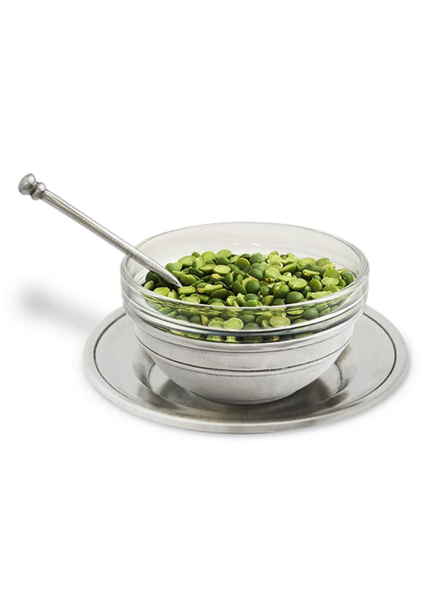 Match Condiment Uno Bowl with Spoon and Saucer