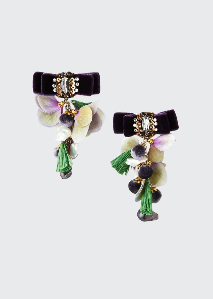 Ranjana Khan Pearl Sands Clip-On Dangle Earrings