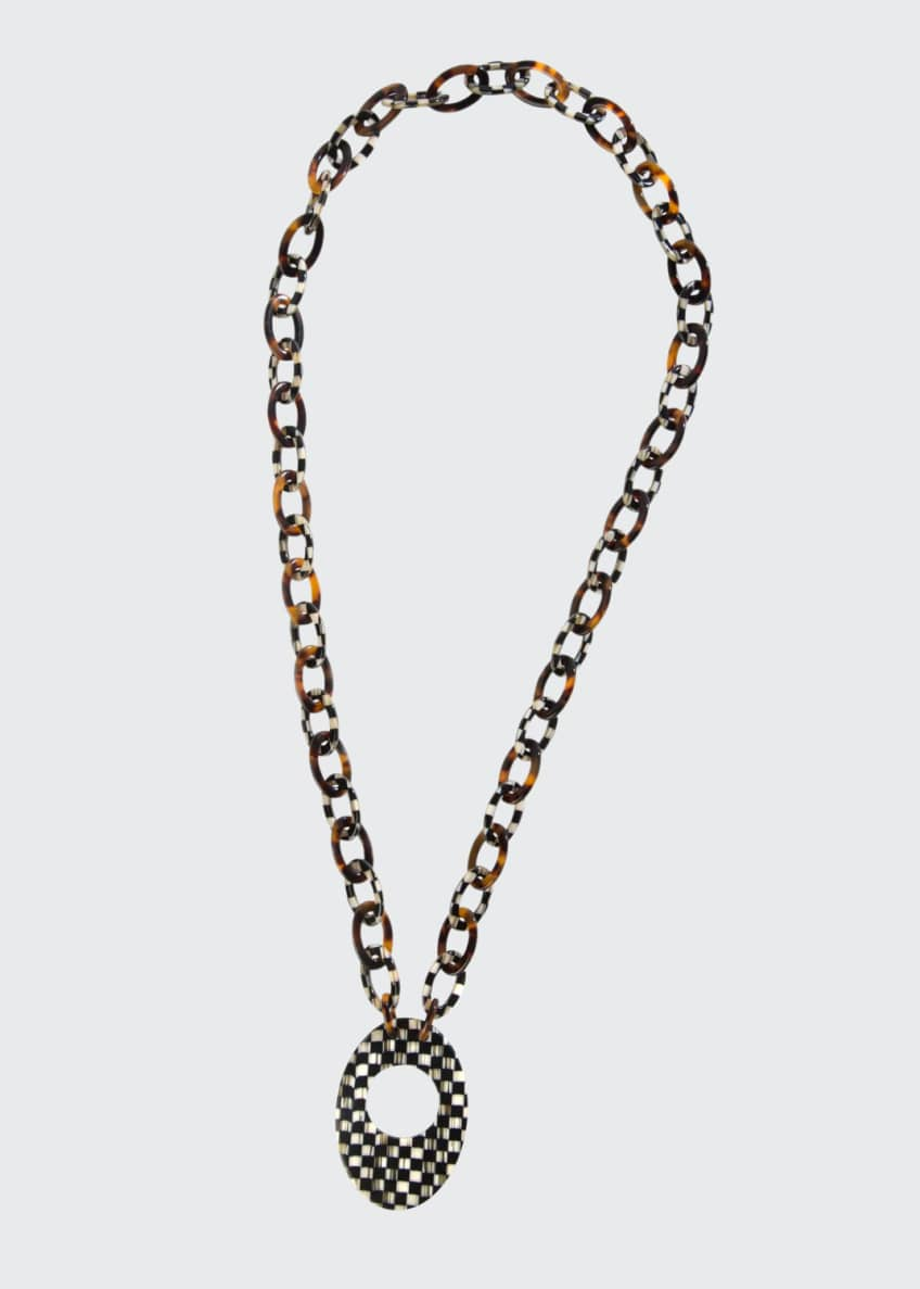 MacKenzie-Childs Liaison Courtly Check Reader Necklace