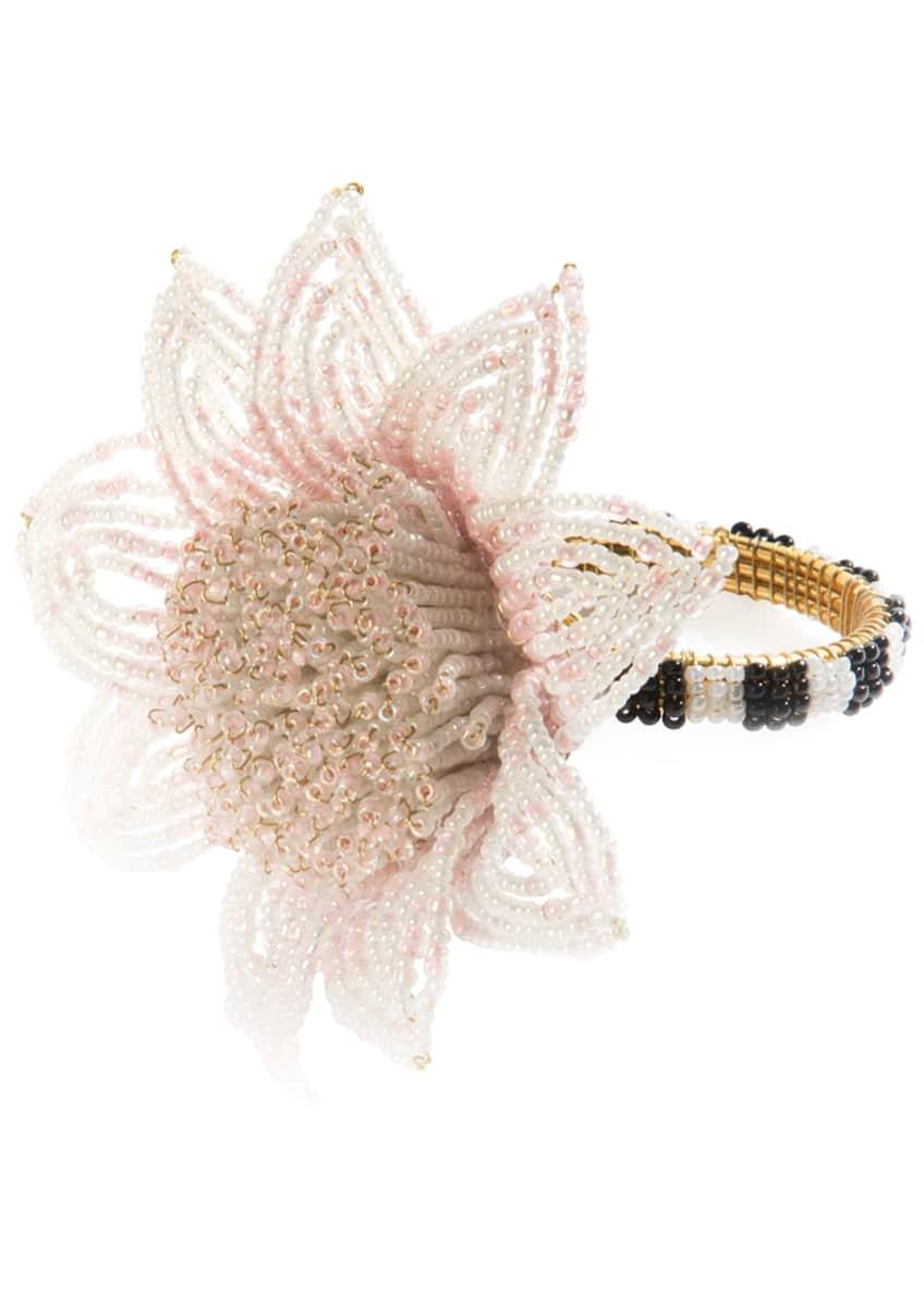 MacKenzie-Childs Blossom Napkin Ring, Pink