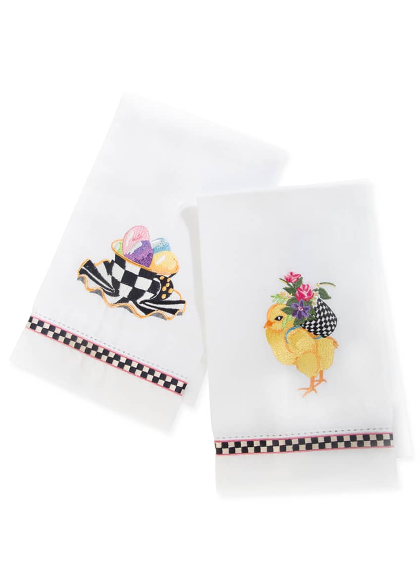 Image 1 of 1: Chicks and Eggs Guest Towels, Set of 2