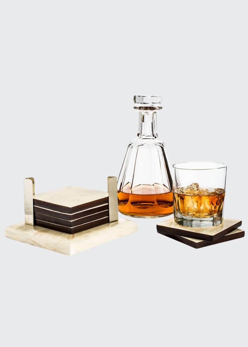 LADORADA Light Almendro 6-Coaster Set with Silver Holders