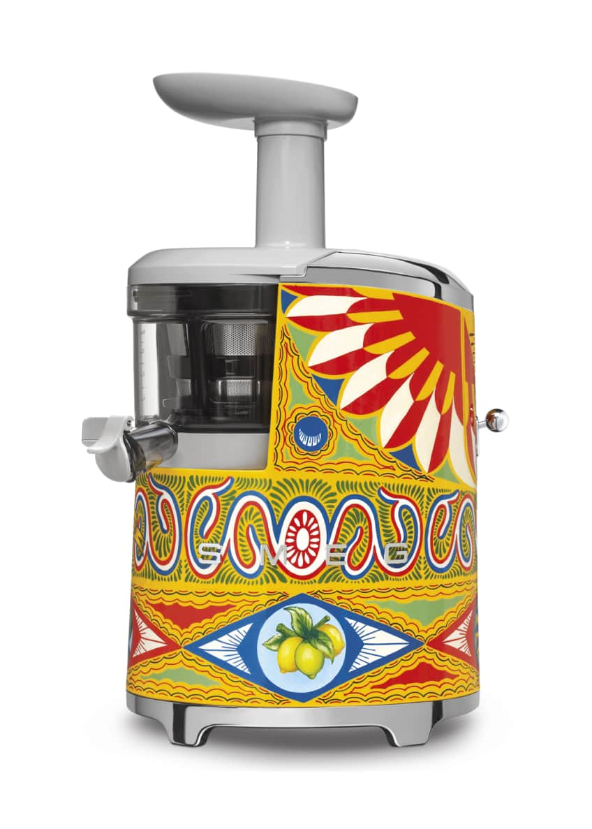 Image 2 of 2: D&G x SMEG Hand-Painted Slow Juicer