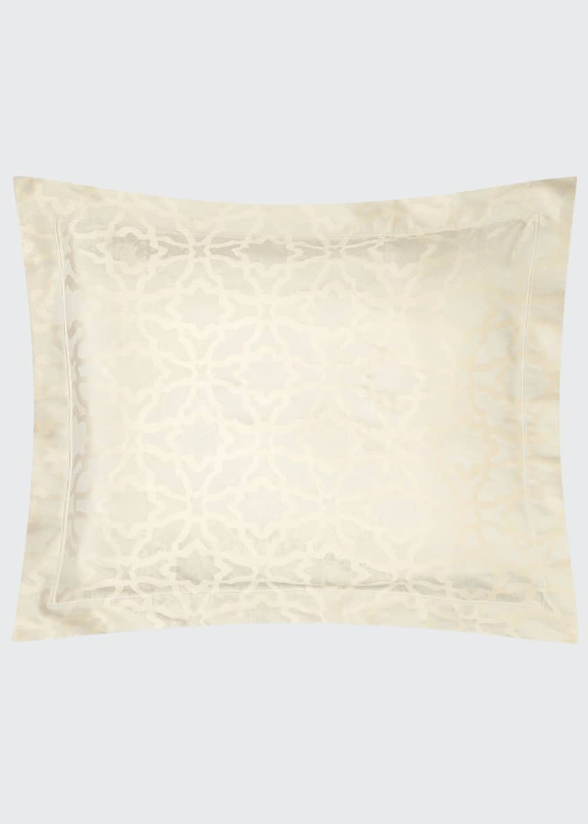 Image 1 of 1: Champagne Geometric King Sham