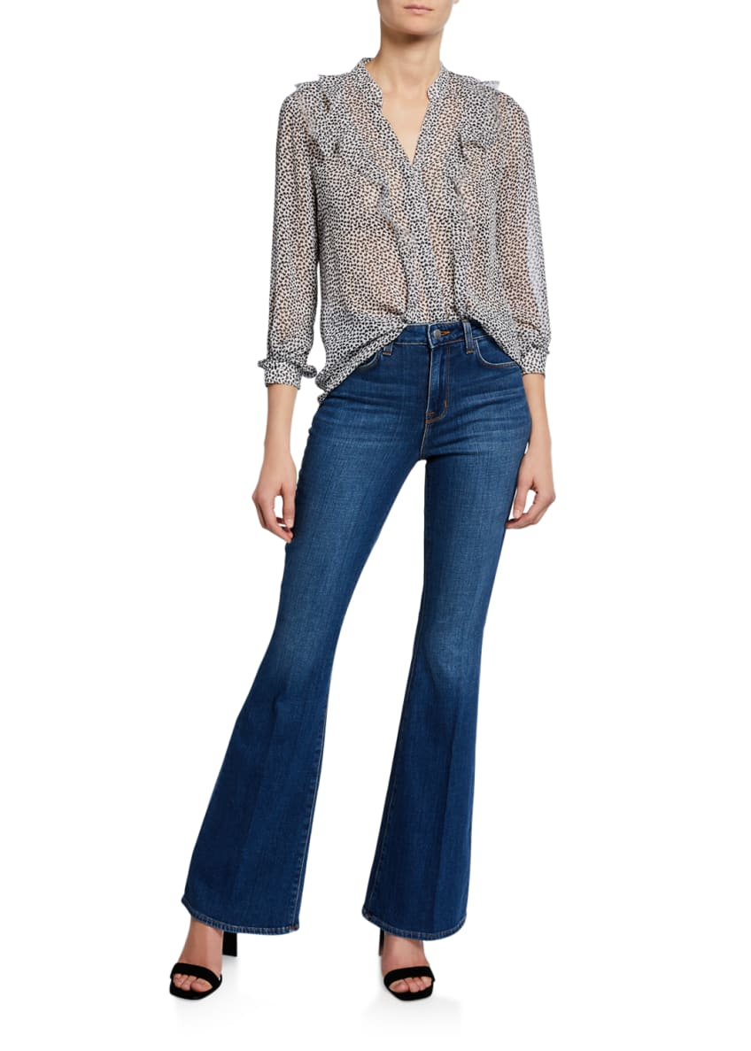 Image 3 of 3: Bell High-Rise Flare Jeans