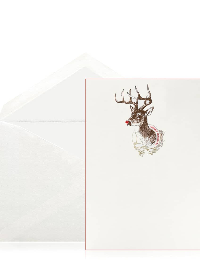 Bell'INVITO Merry Holiday Reindeer Stationery Set, Box of