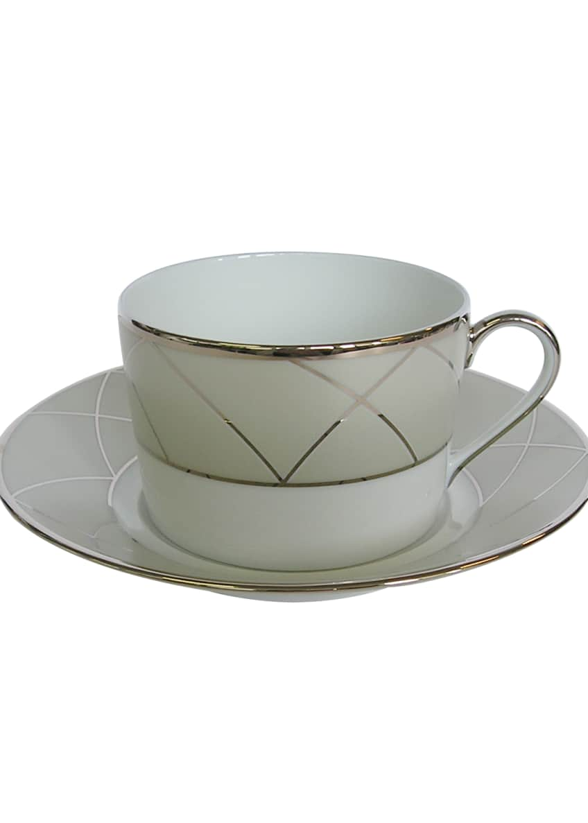 Haviland Clair de Luna Arch Teacup Set