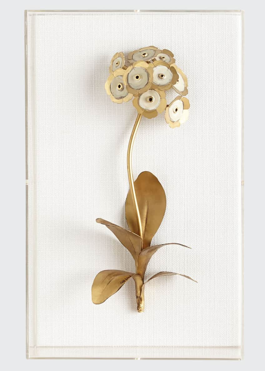 Image 1 of 1: Original Gilded Auricula Study on Linen