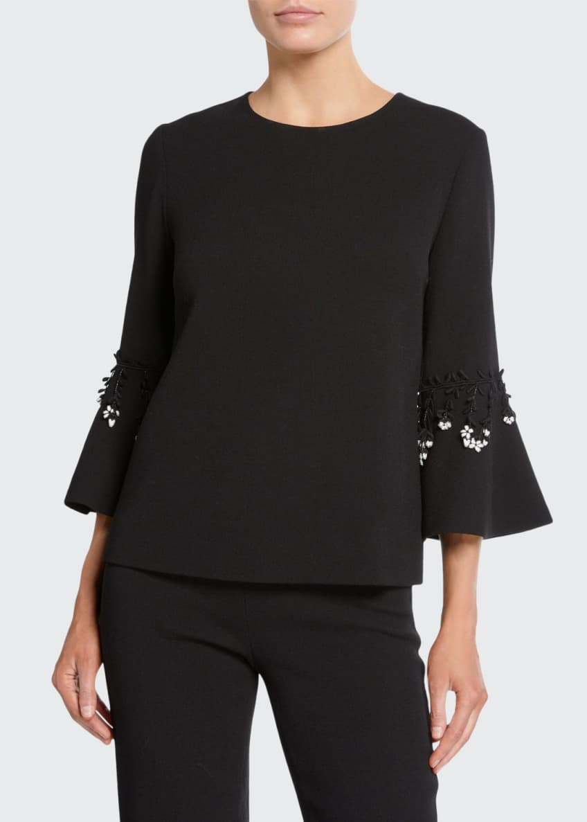 Lela Rose Flutter Sleeve Top & Matching Items