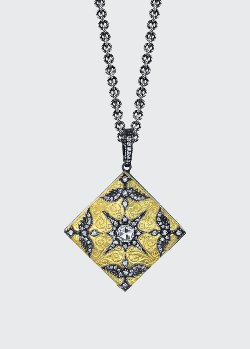 Arman Sarkisyan Medium Square Love Bird Locket Necklace