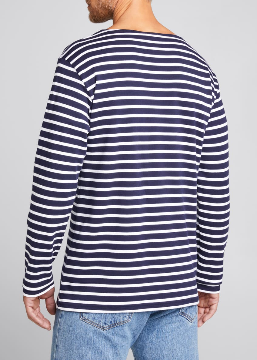 Image 2 of 7: Men's Marinire Heritage Striped Long-Sleeve T-Shirt