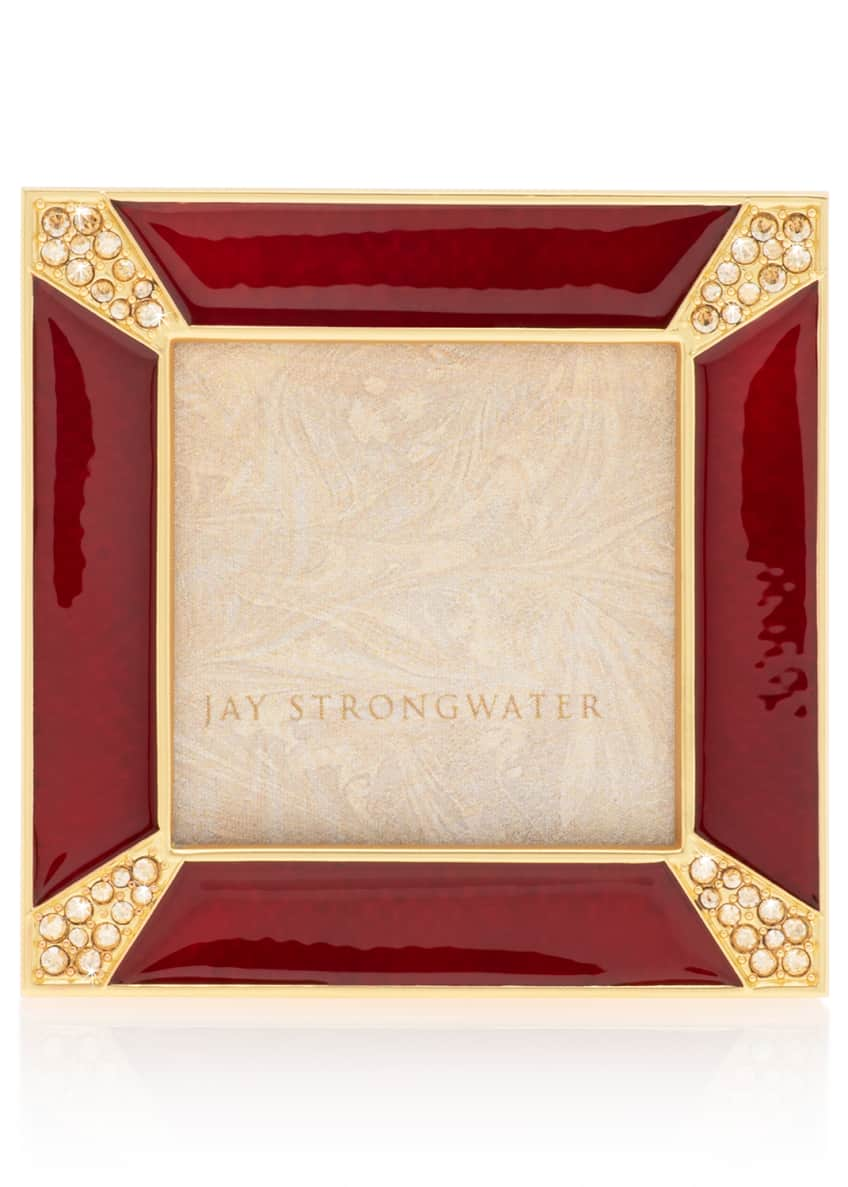 Jay Strongwater Crystal Pave Corner Square Frame
