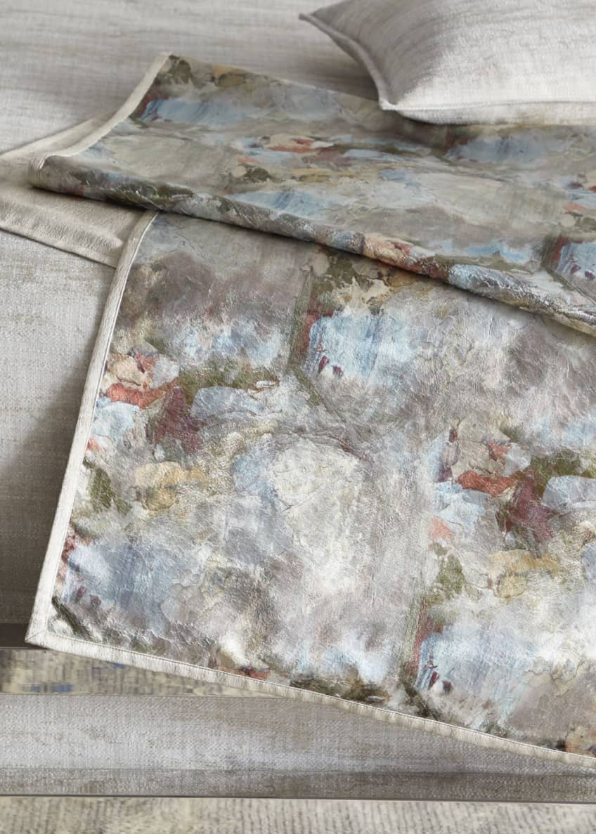 Image 1 of 1: Crazy Monet King Bed Scarf
