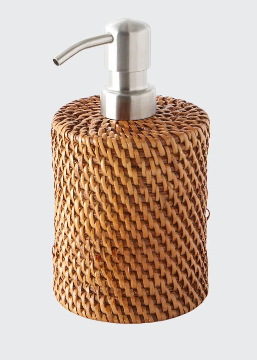 Image 1 of 1: Dalton Round Rattan Soap Pump