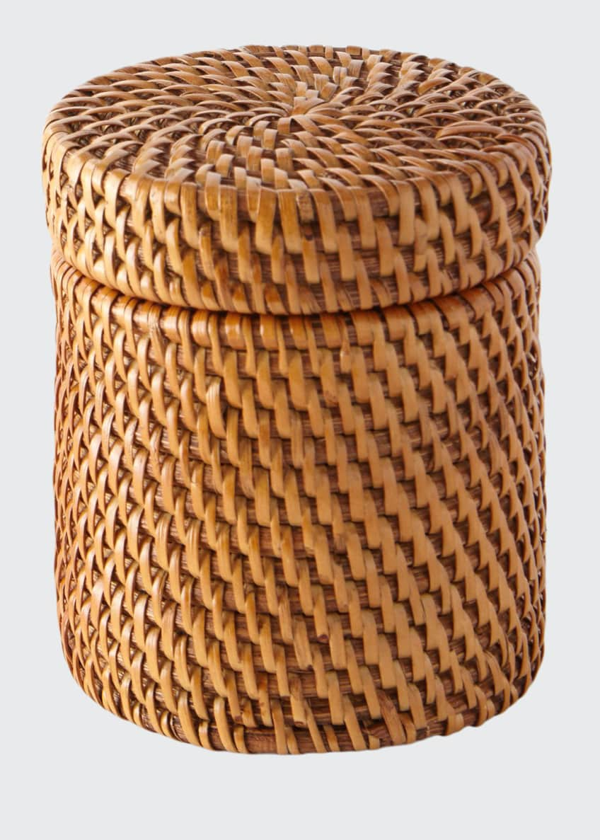 Image 1 of 1: Dalton Round Rattan Canister