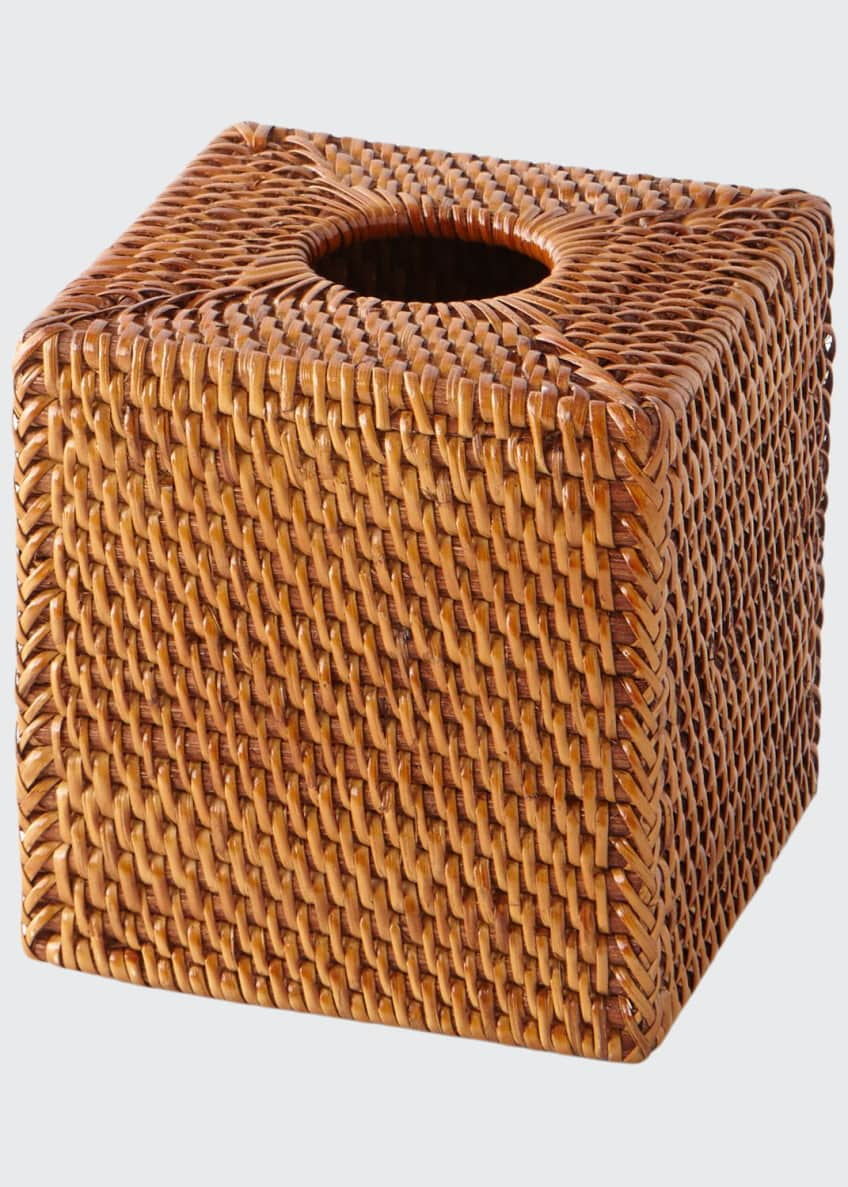 Image 1 of 2: Dalton Rattan Tissue Box Cover