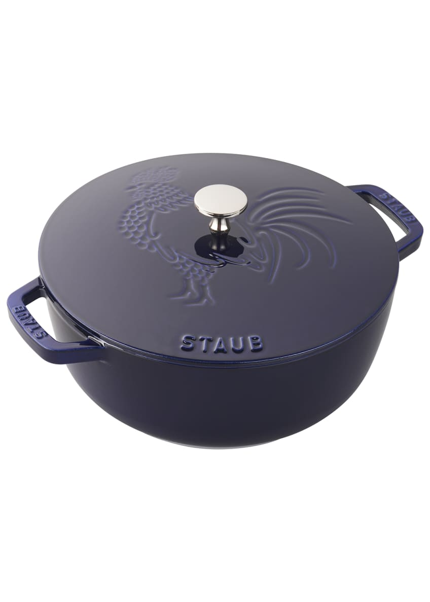 Image 1 of 1: 3.75-Qt. Essential French Oven Rooster with Lid, Dark Blue