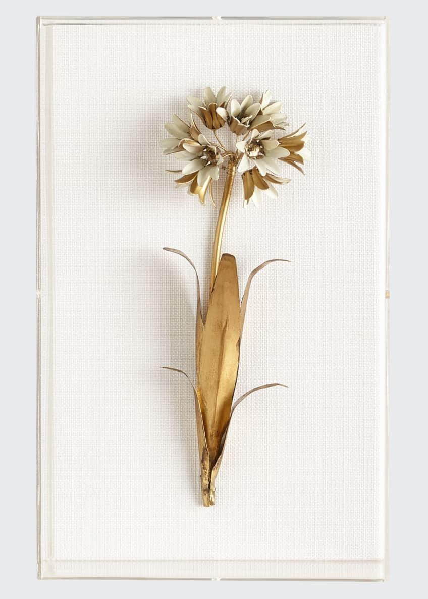 Image 1 of 1: Original Gilded Agapanthus Study on Linen