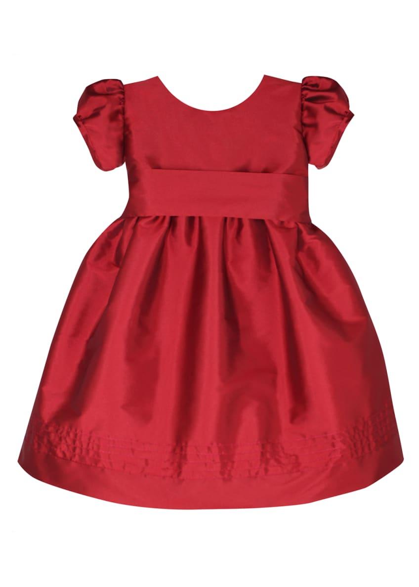 Isabel Garreton Timeless Taffeta Puffy-Sleeve Dress, Size 12-24