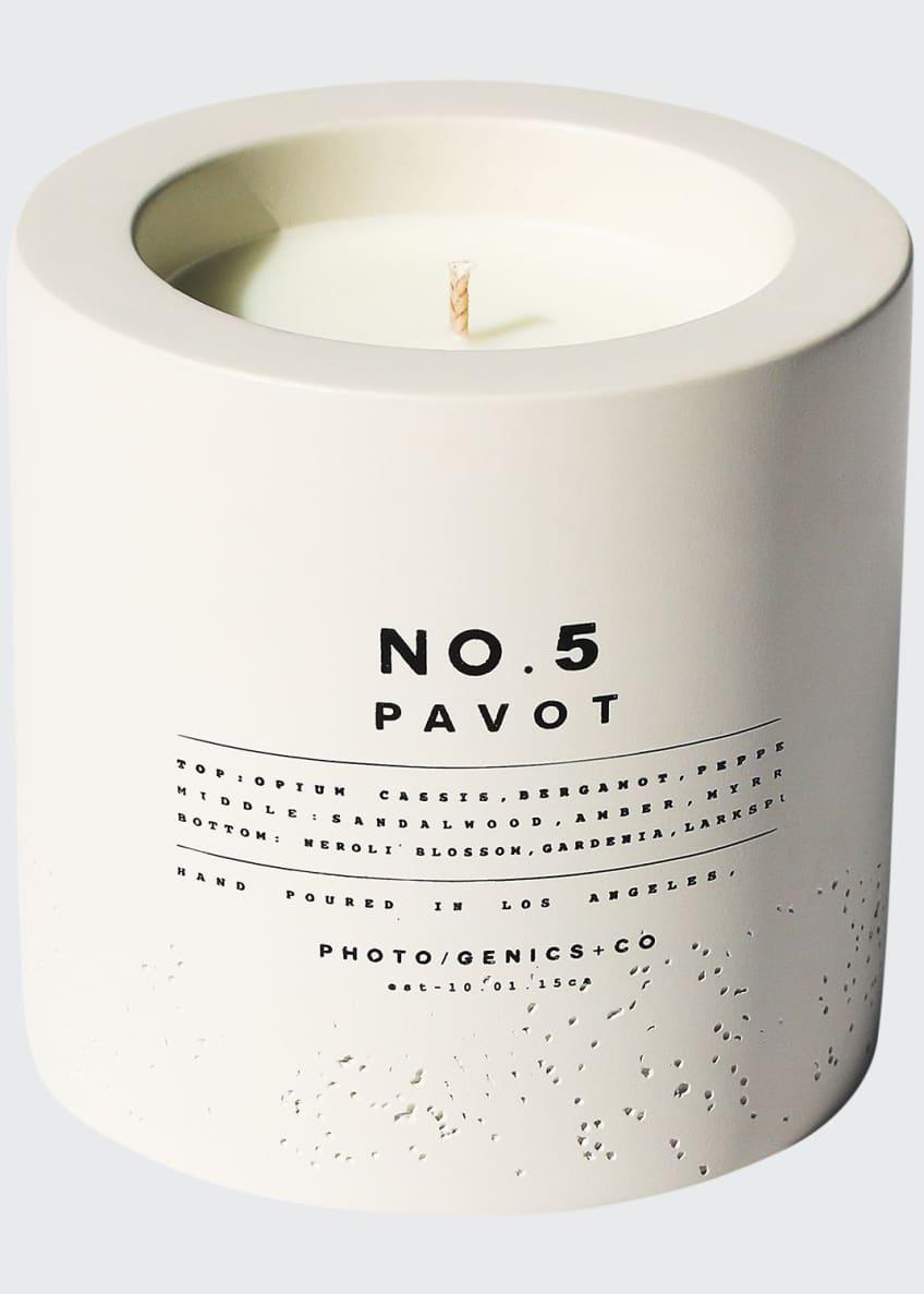 Photogenics + Co No. 5 Pavot Concrete Candle,