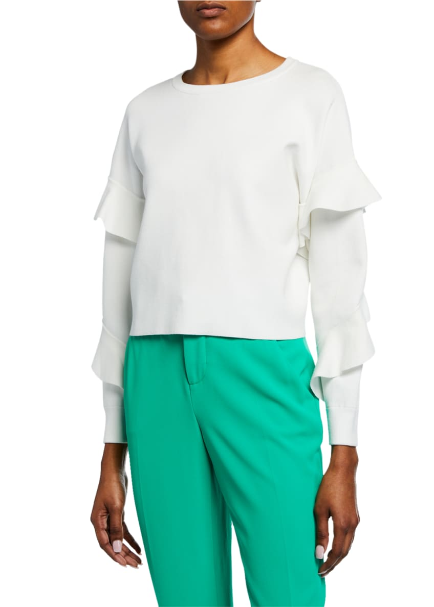 Alice + Olivia Stacey Slim Straight-Leg Trousers &